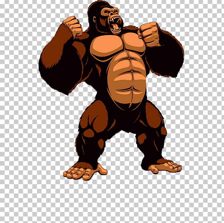 Gorilla King Kong PNG, Clipart, Animals, Arm, Carnivoran, Cartoon.
