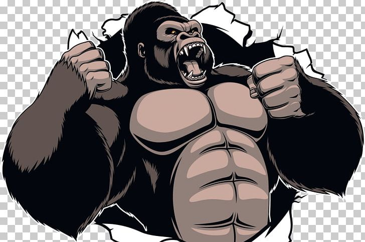 Gorilla King Kong Ape Cartoon PNG, Clipart, Animals, Ape, Arm, Art.