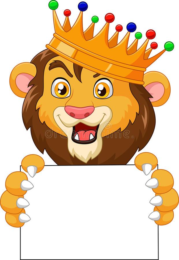 Cartoon King Lion Stock Illustrations.