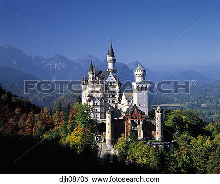 Stock Image of Neuschwanstein Castle (King Ludwig 2nd Castle.