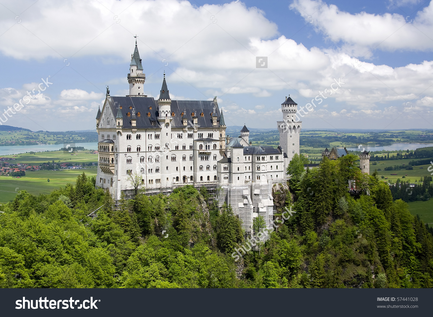 Germanies Best Known Castle Built By Stock Photo 57441028.