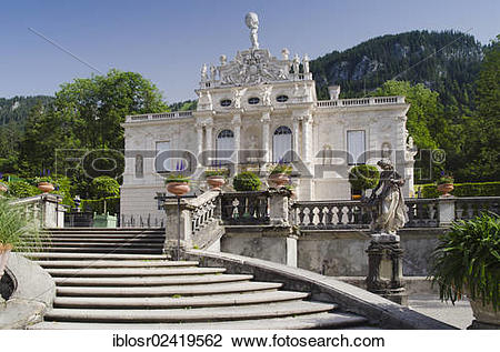 Stock Photo of Schloss Linderhof Palace of King Ludwig II.