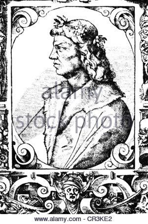 Portrait of Matthias Corvinus, 1443.