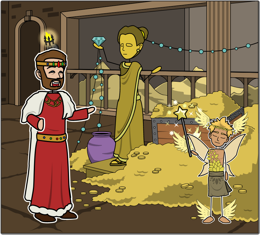 King Midas and the Golden Touch.
