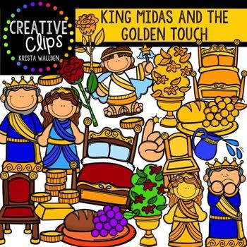 King Midas and the Golden Touch {Creative Clips Digital Clipart} in.