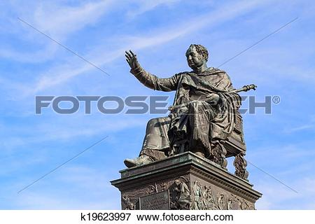 Picture of Statue of King Maximilian Joseph of Bavaria k19623997.
