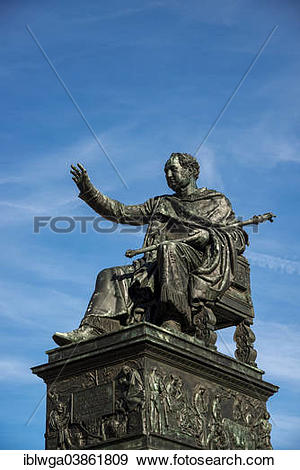 "Stock Photograph of ""Monument to King Maximilian I Joseph of."
