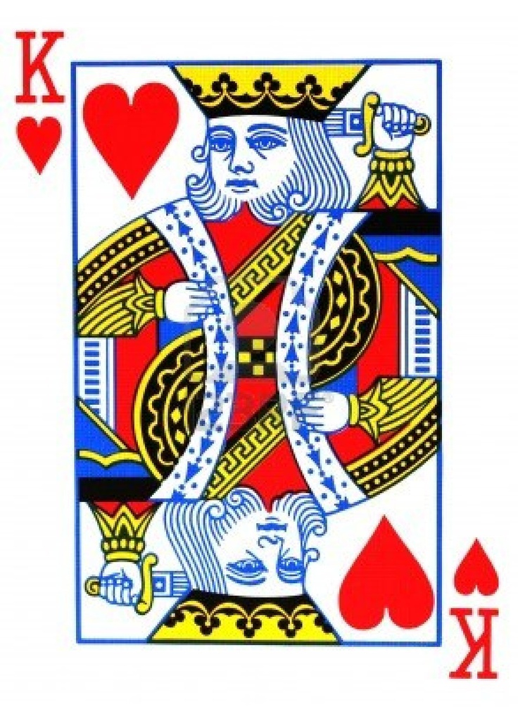 King of hearts playing card.