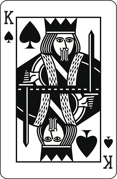 King Of Spades Illustrations, Royalty.