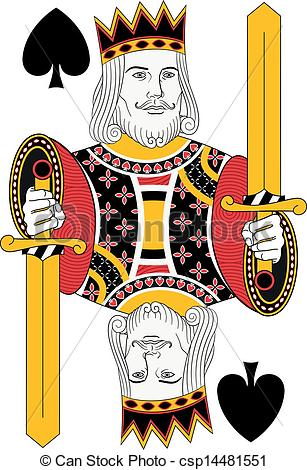 King of spades Clipart Vector Graphics. 382 King of spades EPS clip.