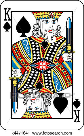 King of spades Clipart.