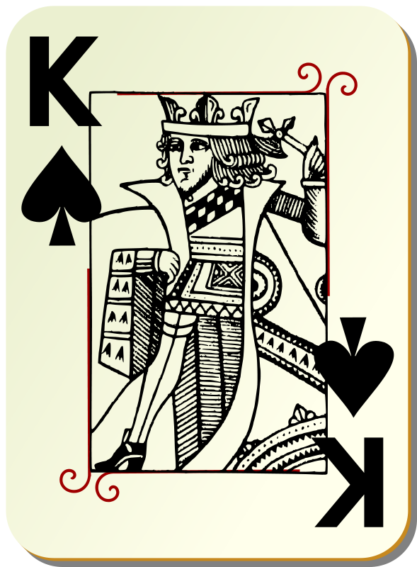 Free Clipart: Guyenne deck: King of spades.