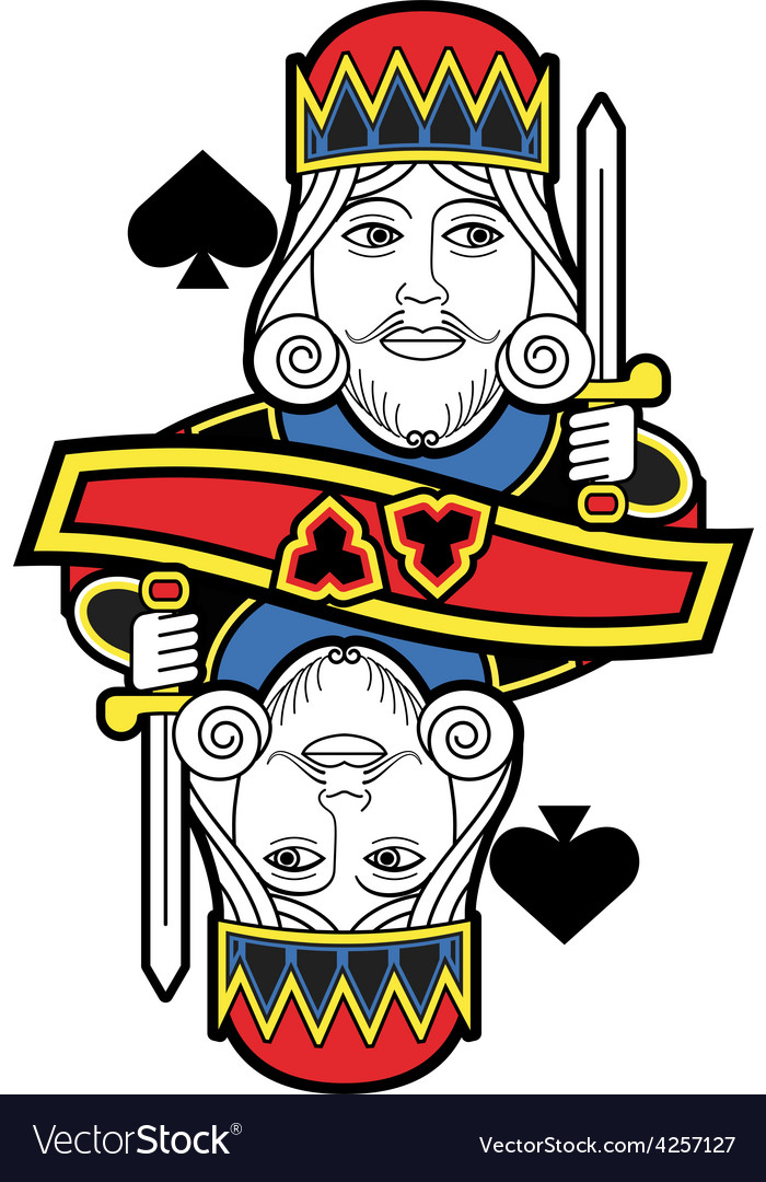 Stylized King of Spades no card.