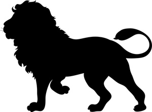 lion and elephant clipart #5