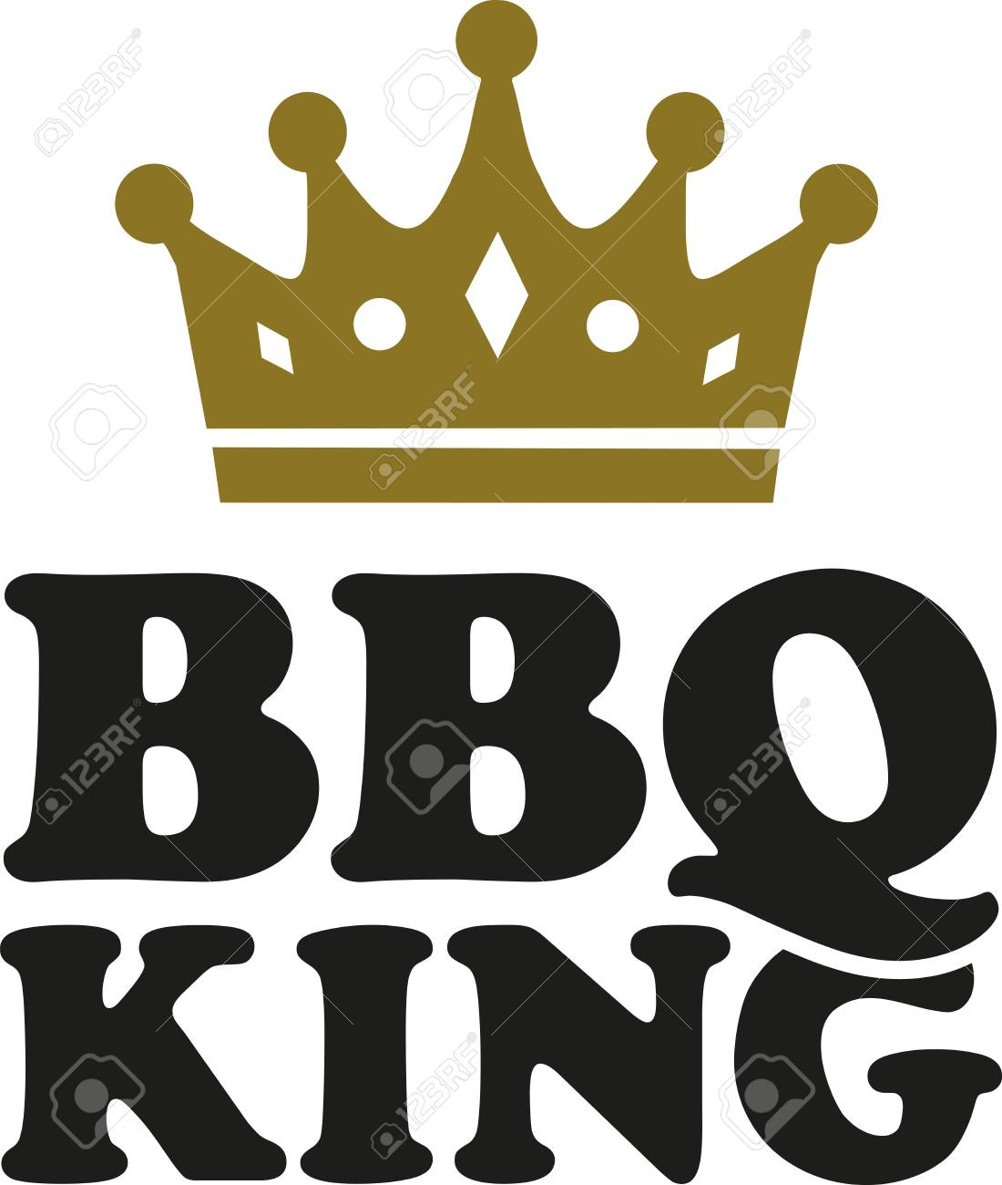BBQ King with crown.