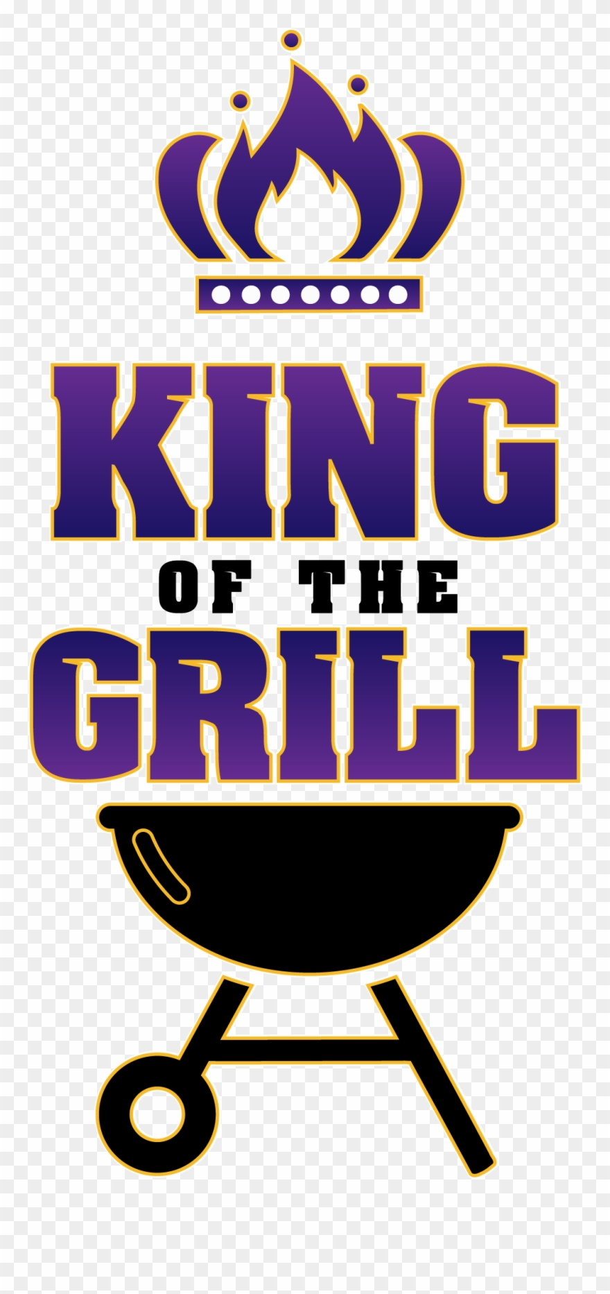 King Of The Grill Clipart.