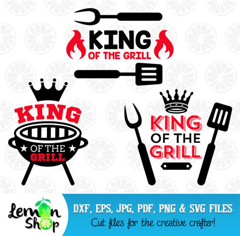 King of the Grill SVG, BBQ Monogram, BBQ Graphic, Grill Clipart, King of  the Grill, Instant Download, 65.