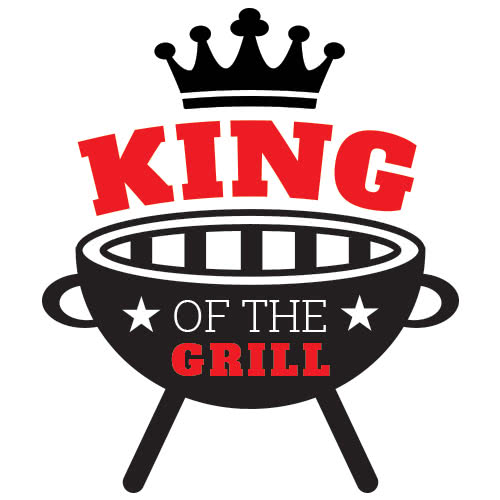 King Of The Grill Stars PVC Party Sign Decoration 25cm x 25cm.