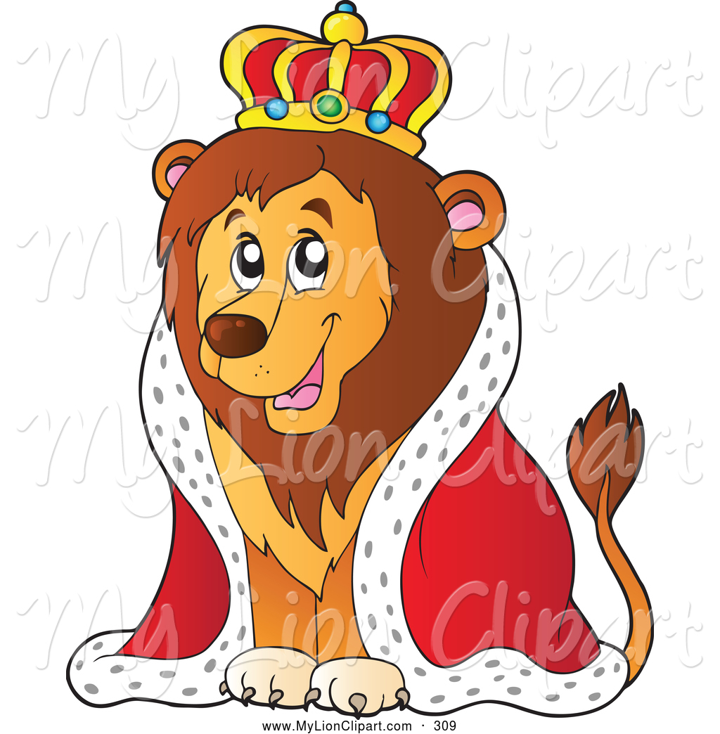King lion clipart.