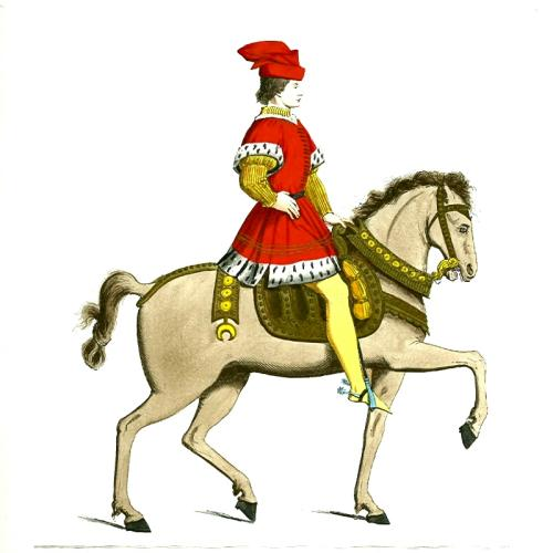 King on horse clipart.