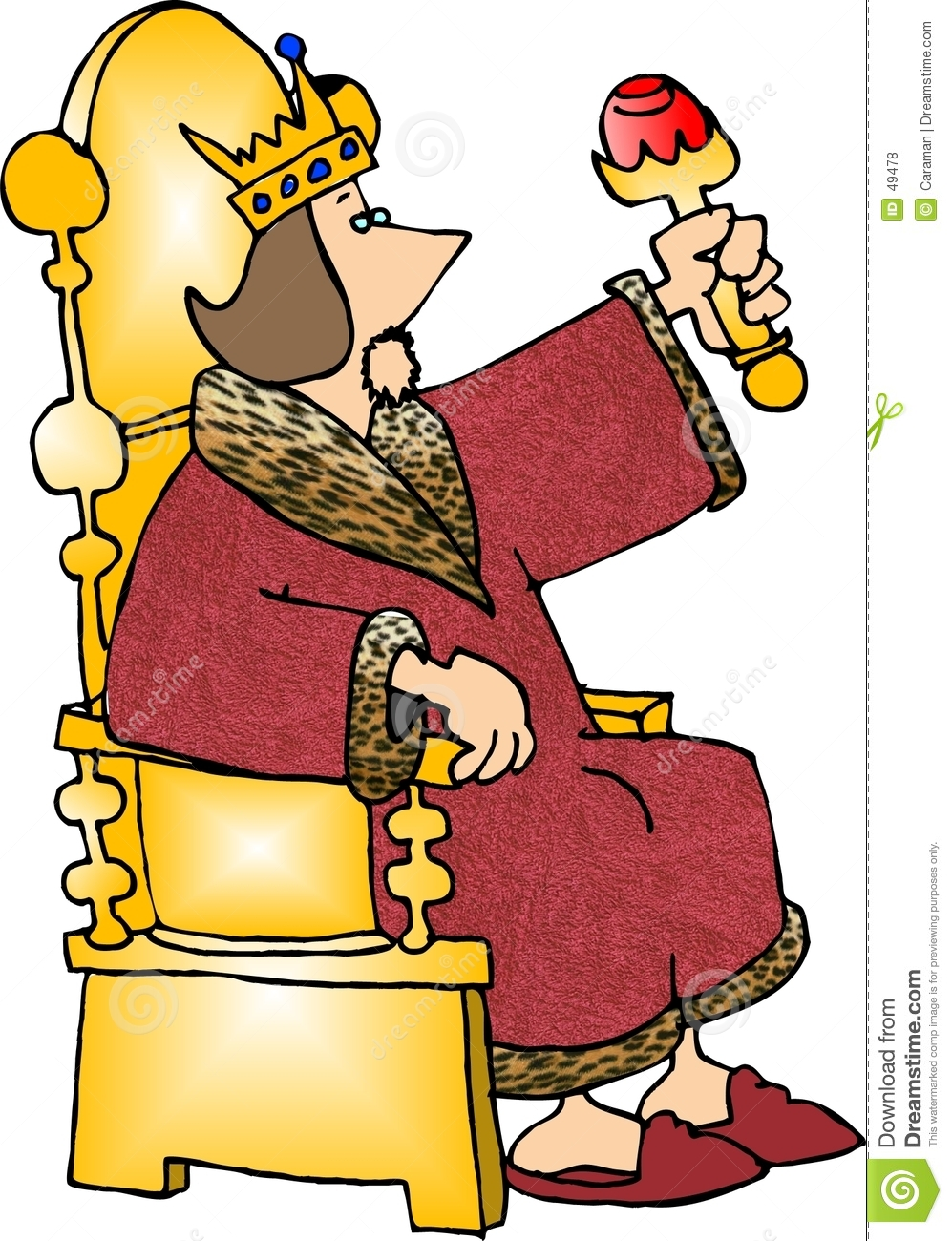 Evil King On Throne Clipart.
