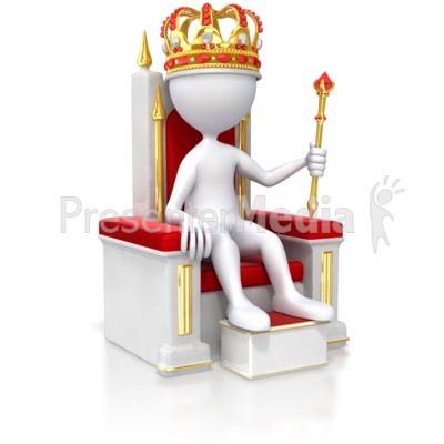 Stick Figure King On Throne.