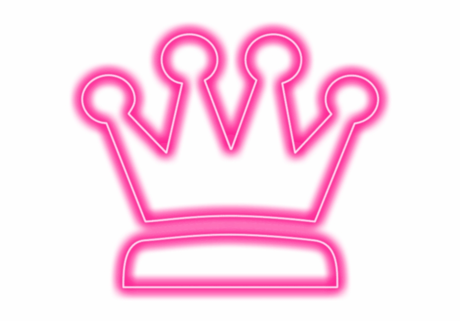 crown #pink #pinkcrown #queen #king #neon #neoneffect.