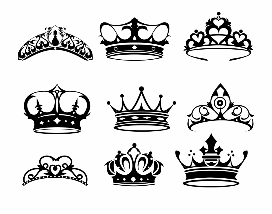 Tattoo Elizabeth King Painted Of Queen Crown Clipart.
