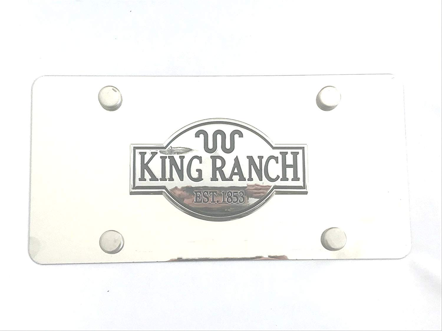 Woowin 3D King Ranch Logo F150 250 350 Emblem Stainless Steel License Metal  Plate Tag With Anti.