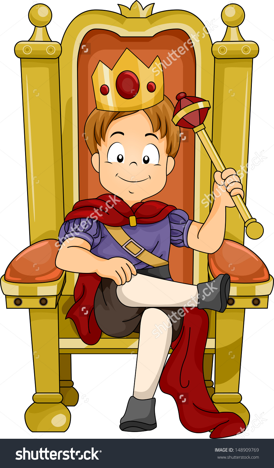 King on throne cartoon