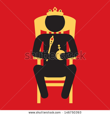 King Sitting On Throne Stock Vector 146750393.