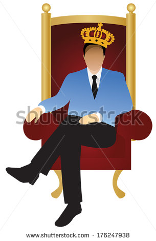 Successful Businessman Ceo Sitting On Throne Stock Vector.