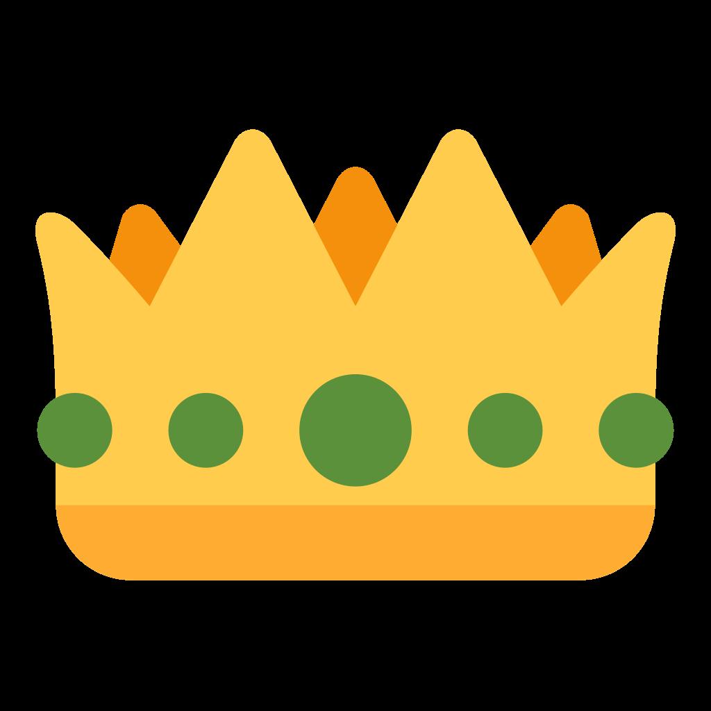 Emoji Sticker Crown iPhone Symbol.