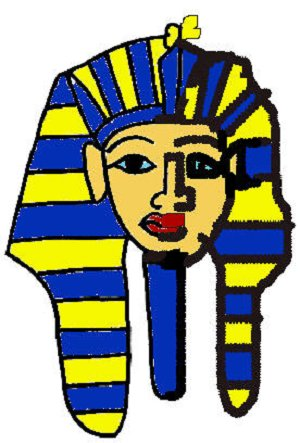 Draw King Tut.