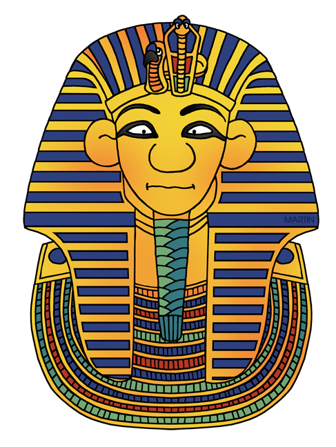 Free Ancient Egypt Clip Art by Phillip Martin, King Tut's Mask.
