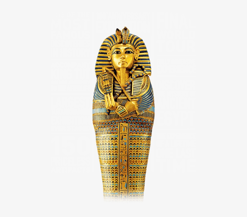 One Of Egypt's Famed King Tutankhamun's Golden Sarcophagi.