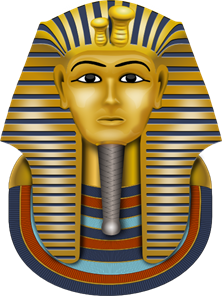 Golden Mask King Tut PNG, SVG Clip art for Web.
