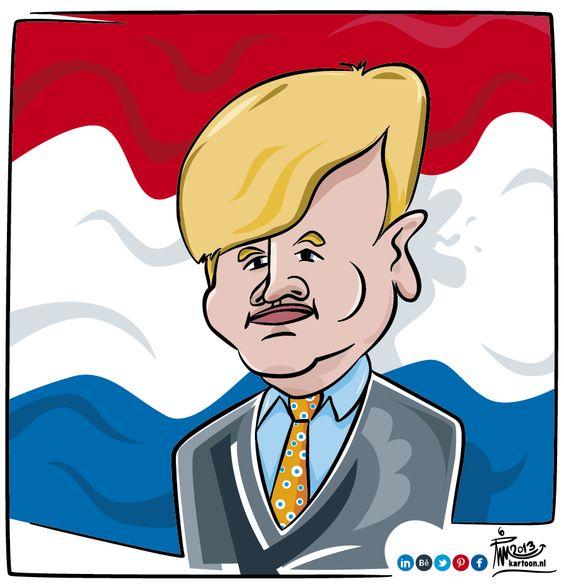 Caricature King Willem Alexander of the Netherlands.