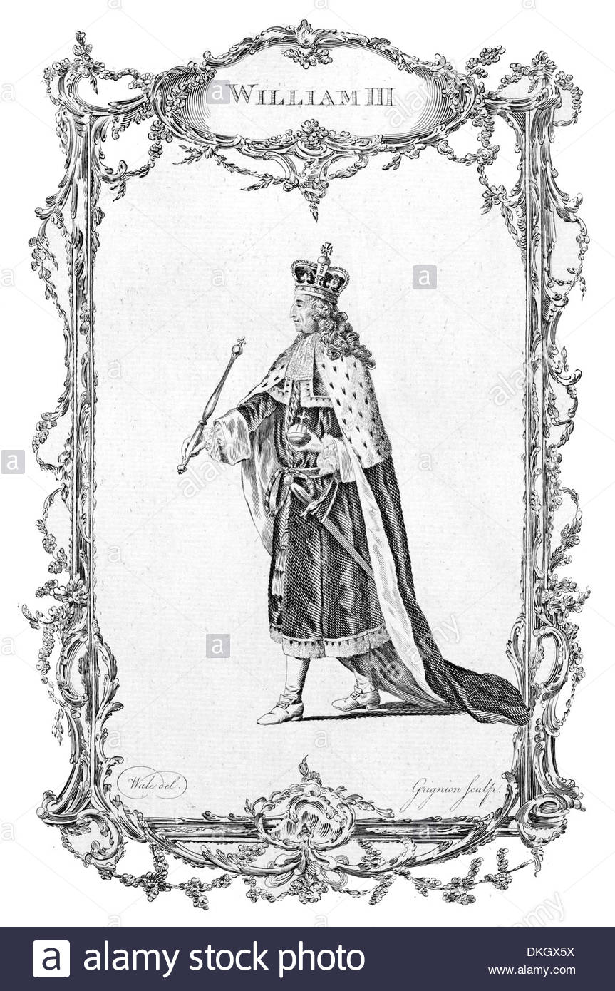 King William Iii Of England And Ii Of Scotland Stock Photo.