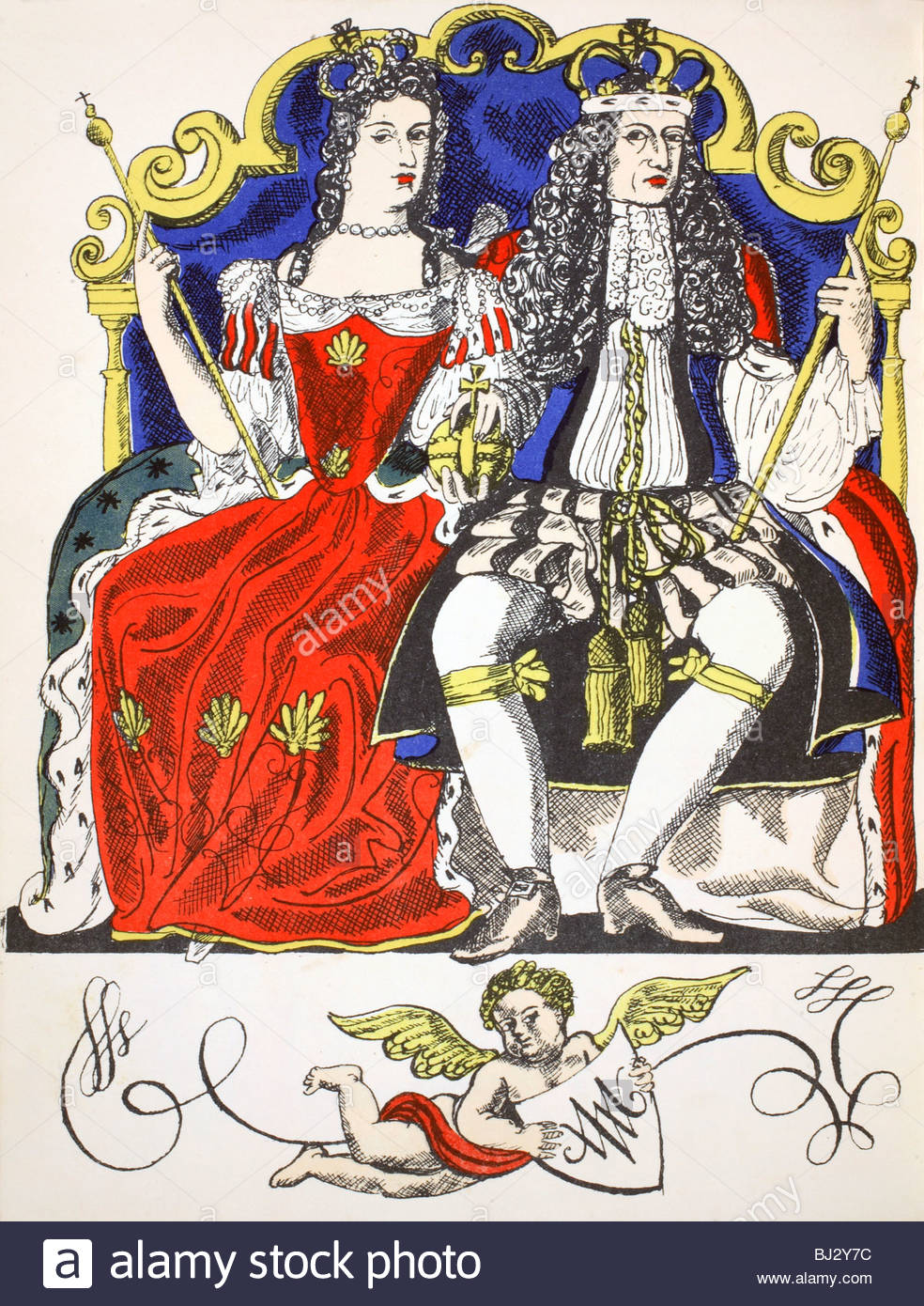 King William Iii And Queen Mary Ii House Of Stuart Joint Monarchs.