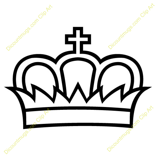King Crown Vector Clipart.