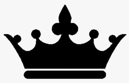 Free King Crown Black And White Clip Art with No Background.