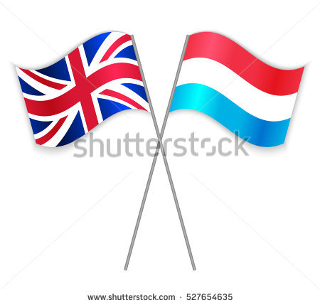 Greek British Crossed Flags Greece Combined Stock Vector 546735100.