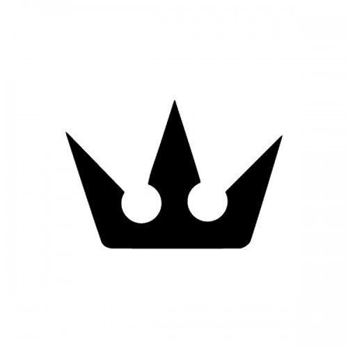 Crown Kingdom Hearts Symbol Logo.