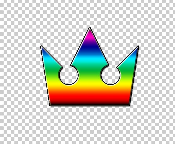 Crown Kingdom Hearts Rainbow PNG, Clipart, Area, Color, Crown, Heart.