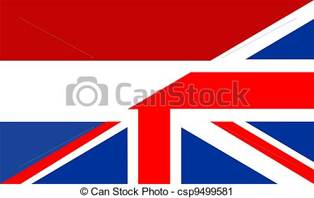 Clipart of uk netherlands flag.