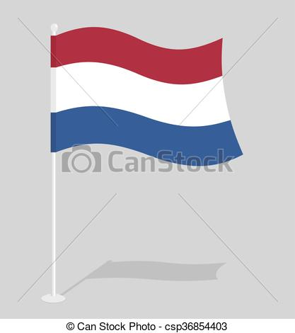Vector Clipart of Netherlands flag. Official national symbol of.