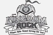 Kingdom Rock VBS 2013 clip art vector logo, hand out to.