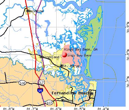 Kings Bay Base, Georgia (GA 31547, 31558) profile: population.