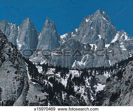 Stock Photograph of Mount Whitney, Kings Canyon National Park.
